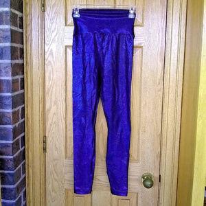 American Apparel blue/black holographic leggings